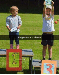 Happy, Happiness, and Be Happy: 3  Happiness is a choice <p>Be happy for what you got</p>